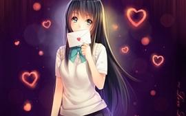 Menina do Anime com letra, estudante