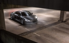 Preview wallpaper Audi R8 Plus V10 black car top view