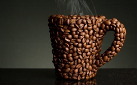 Preview wallpaper Coffee beans cup