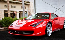 Preview wallpaper Ferrari 458 Italia red supercar front view