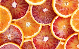Preview wallpaper Fruit slices, oranges, grapefruit, juice, red and yellow