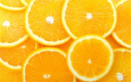 Preview wallpaper Lemon slice, oranges, fruit, yellow