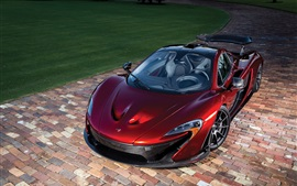 Preview wallpaper McLaren P1 red supercar top view