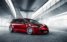 Preview wallpaper Seat Leon red car