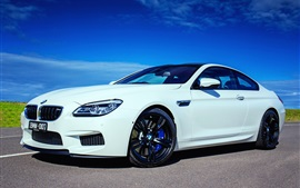 Preview wallpaper 2015 BMW M6 Coupe F13 white car