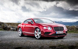 2015 Bentley Continental GT supercar rojo