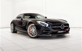 Preview wallpaper 2015 Brabus Mercedes-Benz GT S C190 black car