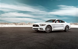 Preview wallpaper 2015 Ford Mustang GT white car