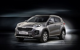 Preview wallpaper 2015 Kia Sportage GT gray car