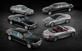 Preview wallpaper 2015 Mercedes-Benz S-Class cars