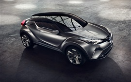 Preview wallpaper 2015 Toyota C-HR Hybrid concept car top view