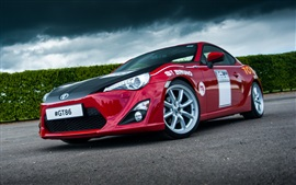 Preview wallpaper 2015 Toyota GT86 red car front view
