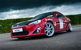 2015 Toyota GT86 coche rojo vista frontal