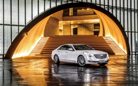 Cadillac CT6 sedan, white car