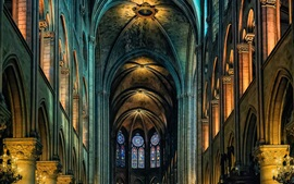 Cathedral, Notre Dame, indoor, Paris, France