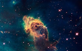 Preview wallpaper Hubble telescope, universe, stars, nebula