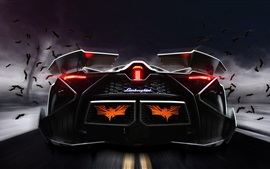 Preview wallpaper Lamborghini Egoista concept supercar rear view