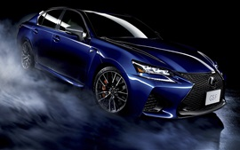 Preview wallpaper Lexus GS F blue car, black background