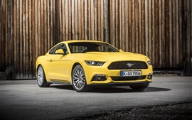 Preview wallpaper 2015 Ford Mustang GT EU-spec yellow car
