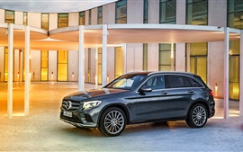 Preview wallpaper 2015 Mercedes-Benz GLC 350 car side view