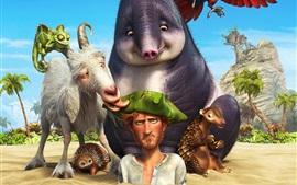 2016 película de dibujos animados, Robinson Crusoe