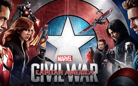 Preview wallpaper 2016 movie, Captain America: Civil War HD