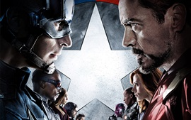Aperçu fond d'écran Captain America: Civil War 2016
