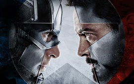 Preview wallpaper Captain America: Civil War, face to face