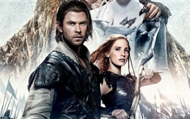 Aperçu fond d'écran Chris Hemsworth, Jessica Chastain, The Huntsman: War Winter