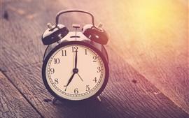 壁紙のプレビュー 時計、時間、木板、光
