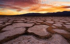 壁紙のプレビュー デスバレー、アメリカ、カリフォルニア州、砂漠、日没、赤い空