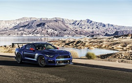 Preview wallpaper Ford Mustang Roush Stage 3 blue car