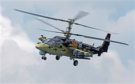 Preview wallpaper KA-52 helicopter, Russian