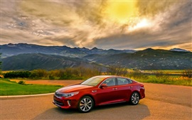 Preview wallpaper Kia Optima turbo red car