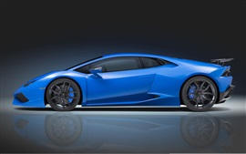 Preview wallpaper Lamborghini Huracan blue supercar side view