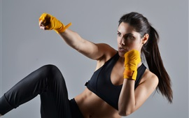 Preview wallpaper Martial arts, pose, girl, sports