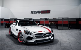 1 coche blanco Vista frontal de Mercedes-Benz S-GT