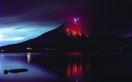 Preview wallpaper Sakurajima, volcano eruption, lava, natural disaster, Japan