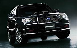 Preview wallpaper Subaru Forester black SUV front view