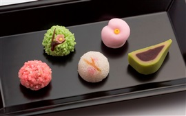 Preview wallpaper Desserts, gourmet, Japanese confectionery