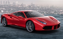 Preview wallpaper Ferrari 488 GTB red supercar