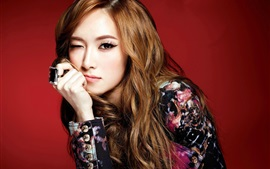 Preview wallpaper Girls Generation, Jessica, playful expression