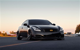 Preview wallpaper Infiniti black tuning cars