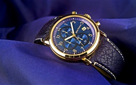 Preview wallpaper Jack Pierre watch, gold, blue