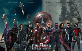 Preview wallpaper Marvel movie 2016, Captain America: Civil War