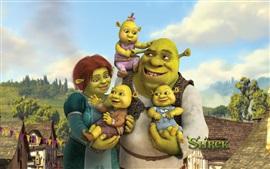 Preview wallpaper Shrek 4, cartoon movie