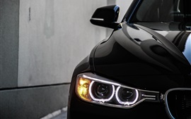 2013 BMW 328i black car angel eyes