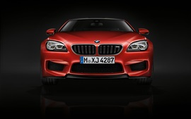 2015 BMW M6 coupe, F13 red car front view