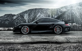 Preview wallpaper 2015 Porsche 911 Carrera Turbo black supercar