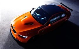Preview wallpaper BMW orange supercar top view